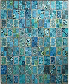 Parte trasera ventana edredón patrón estudios metro azul acolchado DIY coser