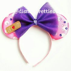 Items similar to Doc Mcstuffins Mickey ears headband. on Etsy Diy Disney Ears, Disney Diy, Disney Crafts, Disney Headbands, Ear Headbands, Doc Mcstuffins Birthday, Disney Outfits, Disney Clothes, Mickey Mouse Ears