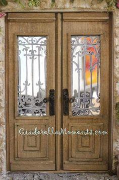 Cinderella Moments: Easy Dollhouse Miniature Door Knob / Lever Tutorial
