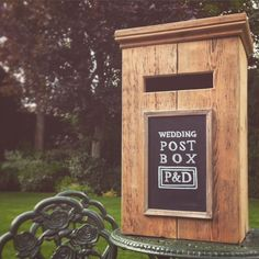 Rustic wedding post box