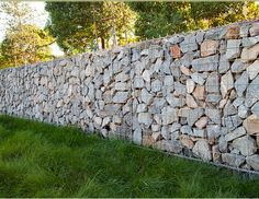 Tiburon Bay House - Tiburon, CA : Portfolio : Shades of Green Landscape Architecture - gabion retaining wall Modern Landscape Design, Green Landscape, Landscape Architecture, Modern Design, Creative Landscape, Home Design, Wall Design, Farm Fence, Garden Design