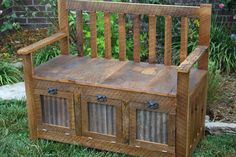 Sealent or Stain added to your Custom Made Barn Wood Furniture Order. $15.00, via Etsy.