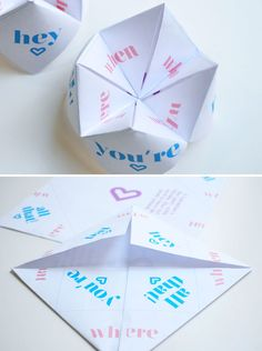 Whip up a fun paper fortune teller with this easy DIY.