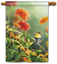 "Bird Feeder Bliss Spring Garden Flag Cardinal Floral Seed Decorative 12.5/"" x 18/"""