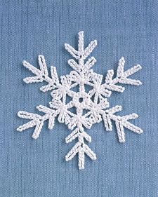 Crochet snowflake patterns.  Love the way these look, and so easy to do.