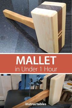 Mallet in Under 1 Hour: A friend of mine, Adam Mackey challenged me to make a woodworking mallet in under one hour as part of his One Hour Builds Challenge. Before I get into the project I want to stipulate what the rules are of Adam\\ Awesome Woodworking Ideas, Best Woodworking Tools, Cool Woodworking Projects, Woodworking Workshop, Woodworking Furniture, Woodworking Finishes, Woodworking Square, Japanese Woodworking, Youtube Woodworking