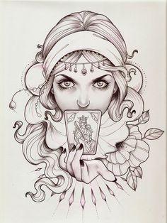 """Tattoo A Madanmar project – Tattoo Designs Gypsy Soul Tattoo, Gypsy Tattoo Sleeve, Gypsy Tattoo Design, Tattoo Designs, Gypsy Tattoos, Tattoo Sketches, Tattoo Drawings, Body Art Tattoos, Art Sketches"