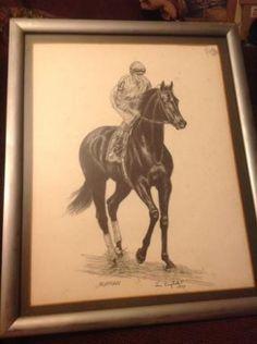 RUFFIAN - Race Horse Print Framed
