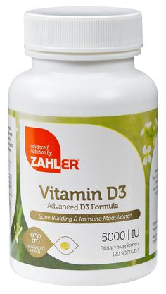 Zahler Vitamin D3 (Cholecalciferol) 5000IU, An All-Natural Supplement Supporting Bone Muscle Teeth and Immune System , #1 Best Top Quality Vitamin D3 with High Absorption, Advanced Formula Targeting Vitamin D Deficiencies, Certified Kosher, 120 Softgels