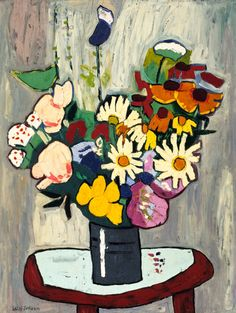 "A bouquet of color. (""Flowers"" by William H. Johnson.)"