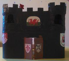 Handmade by Sheila angolo creativo: Riciclo creativo: castello medievale in cartone, p...