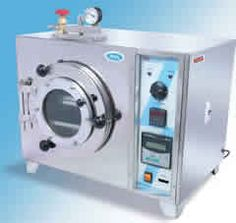 Round Vacuum Ovens are double walled.Inside Chamber is made of thick stainless steel 304 Quality. Outside chamber is made of mild steel sheet pre greased, pretreated for rust proofing and powder coated material.  http://www.lab360.co.in/vaccum-oven.htm