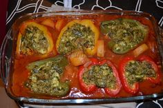 Peppers stuffed with minced meat