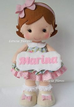 Puppet Crafts, Felt Crafts, Diy And Crafts, Butterfly Birthday Party, Dress Up Dolls, Couture Sewing, Felt Dolls, Cute Dolls, Amigurumi Doll
