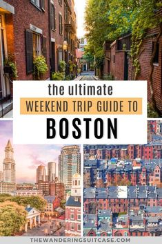 The ultimate weekend trip guide to Boston. The perfect 2 day itinerary for Boston, USA, covering what to do, see and experience when you're in Boston, New England Usa Travel Guide, Travel Usa, Travel Guides, Travel Tips, Central America, North America, Boston Usa, Boston Travel, Usa Cities