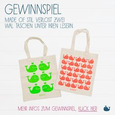 » G E W I N N S P I E L « Made Of Stil verlost zwei Wal Taschen. Wal, Paper Shopping Bag, Artwork, Decor, Bags, Games, Work Of Art, Decoration, Auguste Rodin Artwork