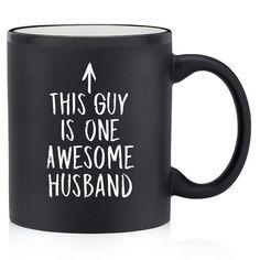 Personalized Coffee Mug For The Awesome Husband Of Yours  dachshund stuff dachshund halloween i want a puppy #dachshundpuppy #minidachshund #sausagedog Funny Coffee Mugs, Coffee Humor, Funny Mugs, Funny Gifts, Coffee Coffee, Black Coffee, Coffee Cups, Best Husband, Awesome Husband