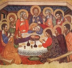 The Last Supper  1370-1400  Tempera on wood  Museo Nazionale, Palermo.SERRA, Jaume  Catalan painter (d. after 1405)