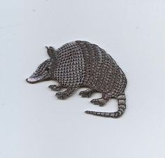 Iron On Embroidered Applique Patch Armadillo