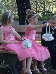 My nieces & a friend's son waiting for the ceremony to begin. Children are facinating!