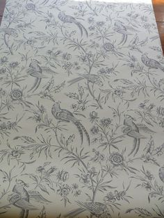 SCALAMANDRE AVIARY WALLPAPER BIRD CHINIOSERIE GREY WHITE SINGL - $40.00 : Silk Resource, Affordable, quality silk Indian Embroidery Designs, Diy Embroidery Kit, Couture Embroidery, Machine Embroidery Patterns, Hand Embroidery Patterns, Pattern Sketch, Pattern Art, Pichwai Paintings, Geometric Stencil