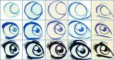 ogen tekenen in stappen - Google zoeken