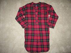 Nightshirt Flannel Long Sleep Shirt Cotton Chevron Grey Stafford Mens Size M-L