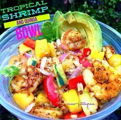 Tropical Shrimp & Quinoa Bowl!