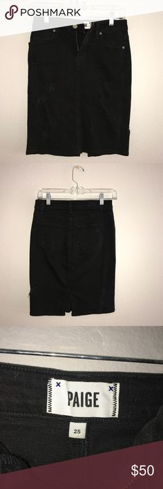 Paige Distressed Denim Skirt 25 Excellent condition. Distressed. PAIGE Skirts