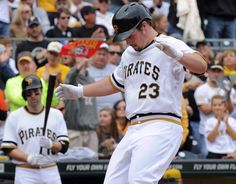 Pirates outfielder Travis Snider (Photo credit: Christopher Horner  |  Tribune-Review)