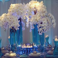 Orchid wedding centerpieces | Square Root Designs A| Wedding Blog @thecoordinatedbride Instagram photos | Websta
