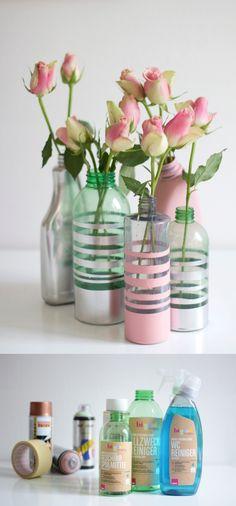 Ingeniosa decoración con botellas plásticas - Muy Ingenioso