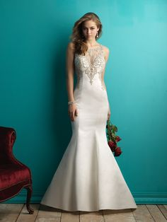 Allure 9252 What pairs better with satin than gorgeous beading? We think it's a perfect combination.