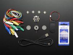 Adafruit Gemma Starter Pack - Wearable E-textiles LEDs Conductive Thread for sale online Conductive Thread, E Textiles, Flora, Usb, Diy Electronics, Holiday Gift Guide, Computer, Starter Kit, Arduino
