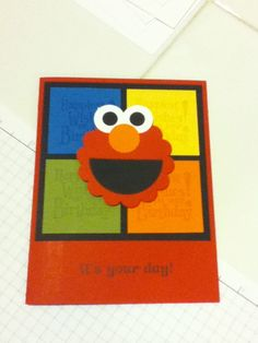 stampin up birthday card ideas | Elmo birthday card made with Stampin' Up! punches! ... | Card Ideas