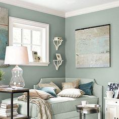 Cool, Soft Blues ~ Coastal Comfort Bedroom