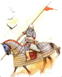 egyptian muslim cavalryman of the Mamluk Burji dynasty during the war against Tamerlane in the century AD Military Art, Military History, Tribal Warrior, Warrior 3, High Middle Ages, Medieval Armor, Historical Art, 15th Century, Art History