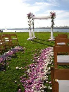 The Confetti Blog - purple ombre petal aisle advice