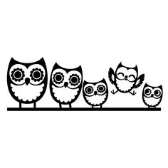 Owl Family Wall Decal - Cozy