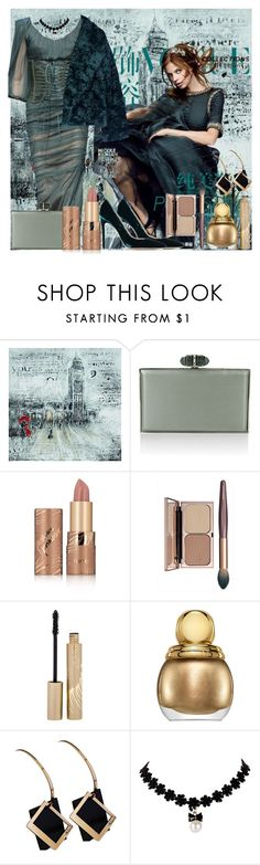 """Untitled 1527"" by ceca-66 ❤ liked on Polyvore featuring Yosemite Home Décor, Dolce&Gabbana, Balmain, Judith Leiber, tarte, Stila and Christian Dior"