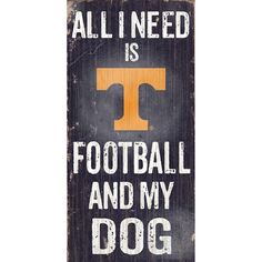 Tennessee Volunteers Football & My Dog Sign, Multicolor