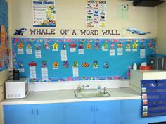 Image result for whale-themed classroom bulletin boards