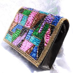 Gorgeous Sequined & Beaded Formal Purse - Vintage Magid - Excellent Condition - Pink, Purple, Turquoise, Emerald, Bronze, Blue, Black, Gold $52.50