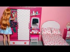 Tutorial: how to make a doll wardrobe with a dressing/vanity table ------ ROYALTY FREE MUSIC Title: 'Life of Riley' by Kevin MacLeod (incompetech.com) Music...