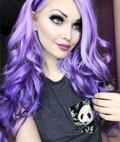 Arctic Fox hair color - Girls Night & a dash of Purple Rain to create this gorgeous hue!  @purplesneakers_