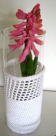 Vase cover - free pattern.