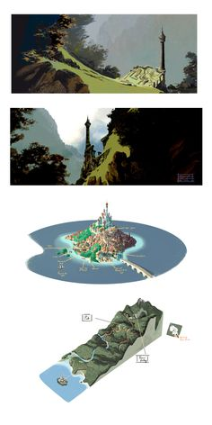 Kevin Nelson amazing concept art for disney's tangled