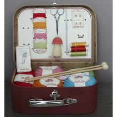 Lovely sewing and knitting kit from the French toy company Moulin Roty.  $62.95 #mightynest