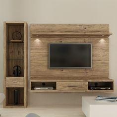 painel de tv com rack suspenso - Pesquisa Google #mueblesdesala