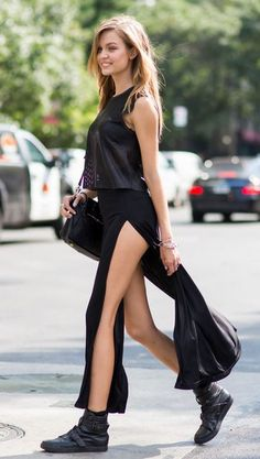 Rock 'n' Roll Style ✯ Josephine Skriver NYFW 2015 via On Abbot Kinney